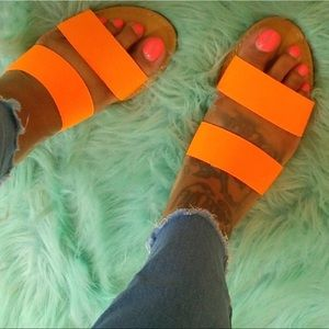 Shoes - ****PRICE IS FIRM****Neon orange sandals